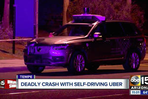 Uber self-driving car saw pedestrian but didn't brake before fatal crash, feds say