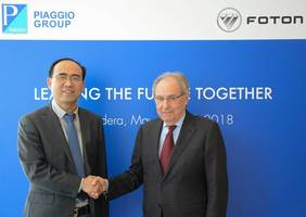 foton motor and piaggio group signed an agreement for the development of light commercial vehicles