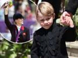Four-year-old Prince George is having riding lessons on a Shetland pony