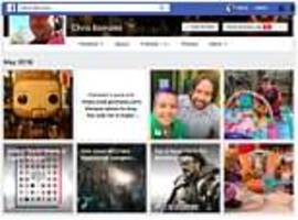 Facebook profile page design trials new Instagram-style grid layout