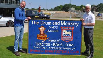 ipswich town: owner of drum and monkey pub's football sign sought