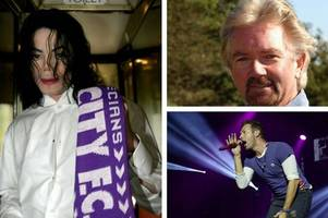 from michael jackson to coldplay frontman chris martin, a look at famous exeter city supporters