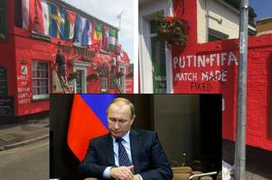 wacky landlord paints his pub for world cup - and has a pop at putin