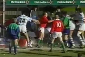 the day wales v argentina erupted into one of the most violent mass brawls rugby has ever seen