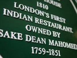 menu from britain's oldest indian restaurant fetches £8,500 at auction