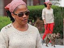 meghan markle's mother doria takes her dog for a walk in l.a.