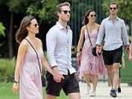 pregnant pippa middleton and husband james matthews spotted in paris
