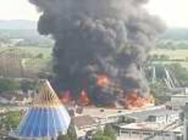 raging fire obliterates several rides at europa-park in germany
