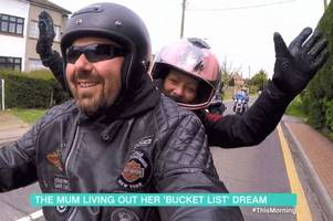 harley davidson ride out for waltham abbey mum-of-two diagnosed with terminal cancer features on itv's this morning