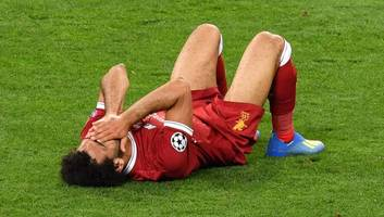 twitter reacts as mohamed salah is substituted in ucl final after suffering shoulder injury