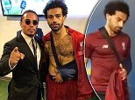 sergio ramos sends best wishes to mo salah as egyptian leaves champions league final wearing a sling