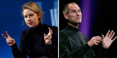 here are all the ways theranos ceo elizabeth holmes has imitated steve jobs over the years