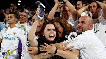 champions league: how the real madrid players celebrated