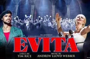 don't miss evita as the musical rolls into town this week