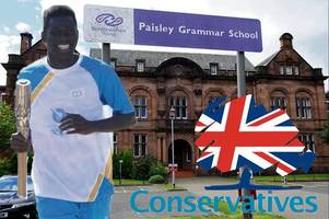 tories target queen's commonwealth games baton holder from paisley grammar for deportation