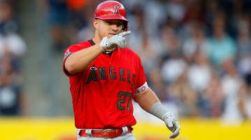 mike trout tallies first five-hit game in win over yankees