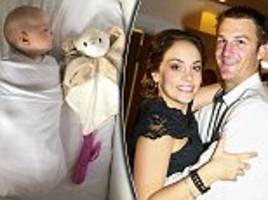 father discovers a very unusual way to get his baby to sleep - leaving his wife rather embarrassed