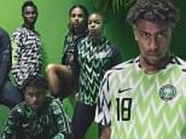 72e04e5c19c Football fans go nuts for Nigeria s new Nike kit as they queue on London s  streets