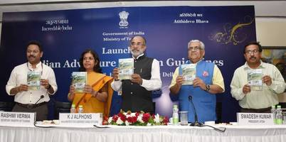 tourism minister launches govt guidelines on adventure tourism