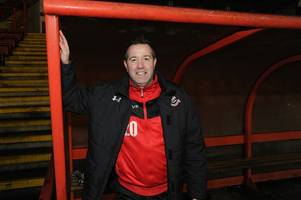 airdrie boss stephen findlay trades the dugout for the pitch in st andrew's hospice legends charity clash