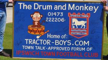 ipswich town drum and monkey painting could be auctioned