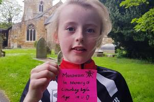 nine-year-old caught up in manchester bombing dedicates a fundraising run to each of the 22 victims