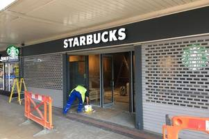 signage goes up as countdown continues to opening of new starbucks branch in scunthorpe town centre