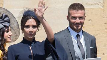 david and victoria beckham donate royal wedding outfits to we love manchester