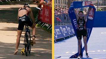 vicky holland wins leeds triathlon despite 'worst transition ever'