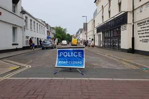 police comb streets in manhunt after serious paignton stabbing