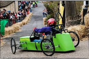 daredevil whacky soapbox racers face the ultimate test of man and machine in coleby downhill challenge