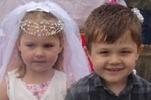 woodlands nursery centre host their own royal wedding party