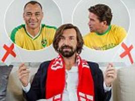 legends try to convince andrea pirlo to support their sides at world cup