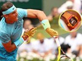 rafael nadal sported a £540,000 watch as he breezed to his 11th french open title