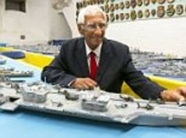 man spent 70 years and used over a million matchsticks to create all 484 royal navy warships