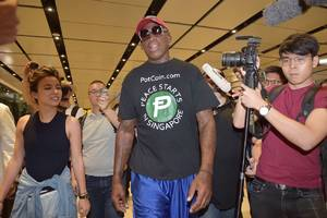 why dennis rodman promoted potcoin at a north korea summit