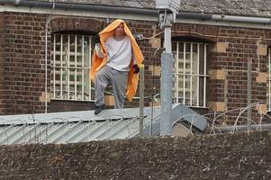 inmate finally down from chelmsford prison roof after 30-hour standoff with police