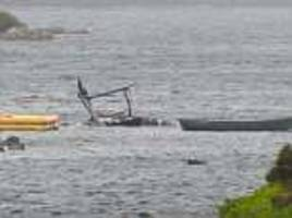 man dies after helicopter ditches in loch in the western isles