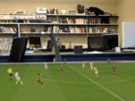 Artificial intelligence projects a 3D soccer game on your kitchen table in time for the World Cup