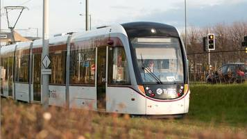 driver injured in edinburgh airport bus and tram collision