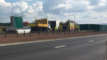 man, 72, dies after car and lorry crash on a9