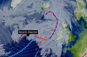 how 'storm hector' and its 70mph winds will affect the grimsby and cleethorpes area