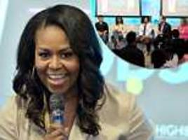 michelle obama tells incoming college students to exercise, eat their veggies and find a community