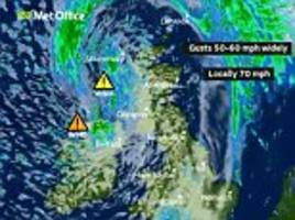 storm hector live: met office warns of a danger to life as 70mph winds and high waves batter the uk
