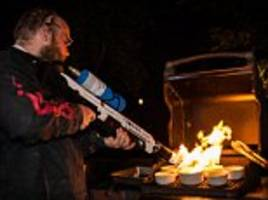 elon musk's boring company flamethrowers are being used to bbq meat