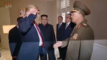 trump saluted a north korean officer, sparking backlash