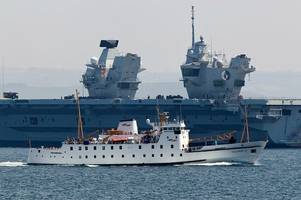 hms queen elizabeth and how cornwall is playing a vital role on the royal navy's largest ever warship