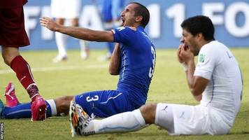 world cup 2018: luis suarez set for first world cup game since biting giorgio chiellini