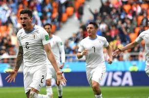 Gimenez scores to lift Uruguay over Egypt 1-0 in Group A