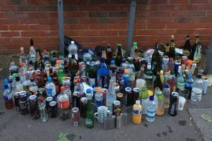 'seriously?!' - huge amount of alcohol taken off students drinking in lenton streets